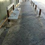  Pavement outside entrance to apartments - vomit, piss, dirt, filth