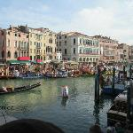 End of Regata Storica 2012 at the Ponte Rialto
