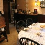 common dining table - great way to share experiences with other guests