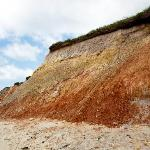  red clay in the cliffs