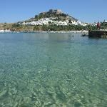 Village of Lindos from the beach