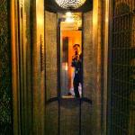  this has to be one of the smallest lifts in Paris. stylish though!