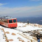 Train on top of Pikes Peak
