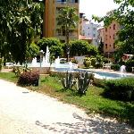  Gardens/fountain next to the Hotel