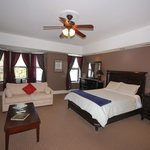 Chocolate room, Queen bed, sleeper sofa, private bath