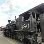 Train returns to Durango a few blocks from The Caboose