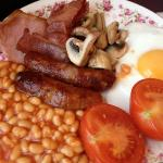 Full cooked English Breakfast made to order each upon request.