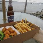 Scallops, fries, & Sammy Adams-oh yeah!
