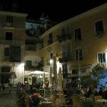 Atrani town square. Be prepared for lots of families at dinner time. Kids everywhere.