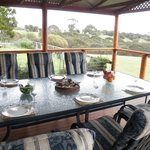 Large Covered Deck overlooking the ocean, spectacular surrounds