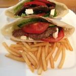 Greek Beef Pita w/ hot n crispy fries :)