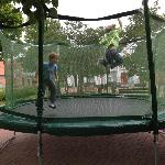  Fun on one of two trampolines.
