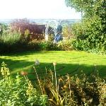  Front garden at Tordown. Pic does not do justice to the angel, though.