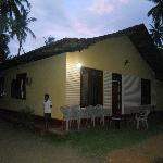 View of the guesthouse at night