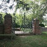 Gate into the fenced gardens