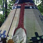  One of the lodgings on the property, The TeePee