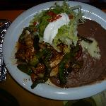  Lunch chicken fajitas at La Quetzalteca