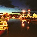 Hall's Harbour at night