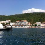 the hotel from out on the water