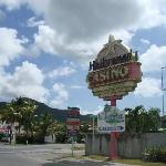 Corner sign leading to casino