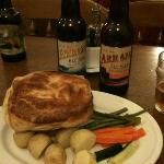  Venison pie with local Arran beers