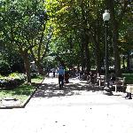 Rittenhouse Square Park aka is at the Corner of the Park
