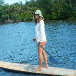 On paddleboard, with Fernando as photographer, business owner and guide