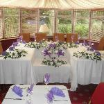  top table in conservatory area