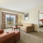 The one and two-bedroom suites feature separate sitting room areas with plasma tv's.