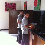 Ketut and Jerry, great cooks and friendly guys