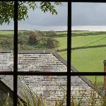  View from kitchen at Barley cottage