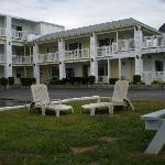 Another view of the Sunrise Motel showing outside furniture..