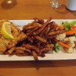 White Fish, Homemade Fries &amp; Steamed Veggies