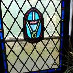 Stained glass in dining room