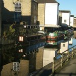 Canal reflections alongside Ibis Shipley