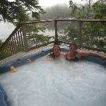  Hot tub and view from balcony