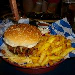 Burger Topped With Chili Con Carne