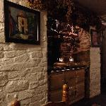 The lovely old AGA in the restaurant
