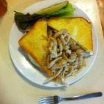 triple trouble sandwich with tobacco onions