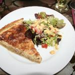 Quiche- so yummy. Nice crust and a great side salad.