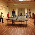 bring your own table tennis bats- there's also a gym