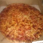 overcooked lousy pizza