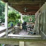 Porch of Coach House 1- It was so pretty!