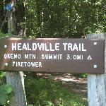  Trail head sign.