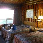 Unique experience, beautiful log room. Not your chain motel type of room.