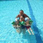 Relaxing in the pool with the Grandchildren
