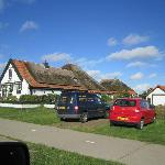 One of the typical houses on Texel. Partly thatched roof.