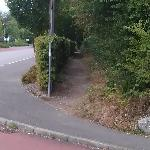 Entrance to path going to filds - at Park and Ride entrance
