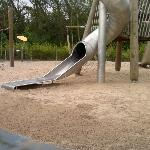 the slides in the play area