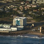 Beach Hotel Swakopmund from the air